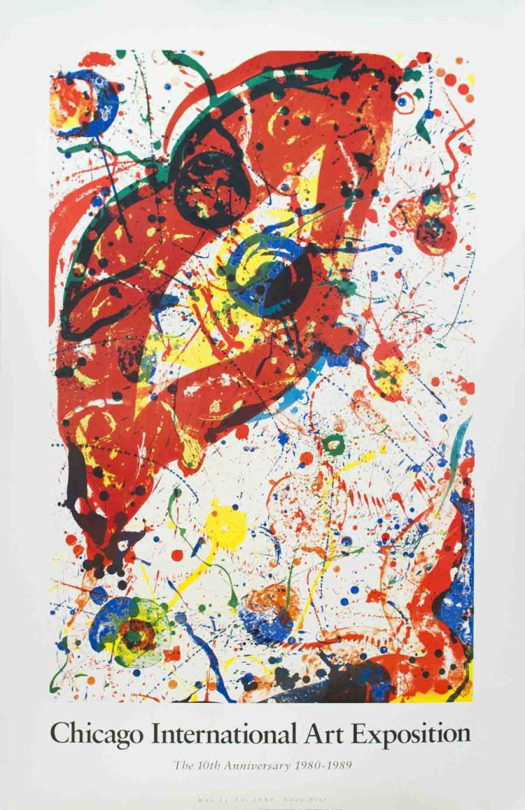 Sam Francis - Chicago Art Fair - 1990