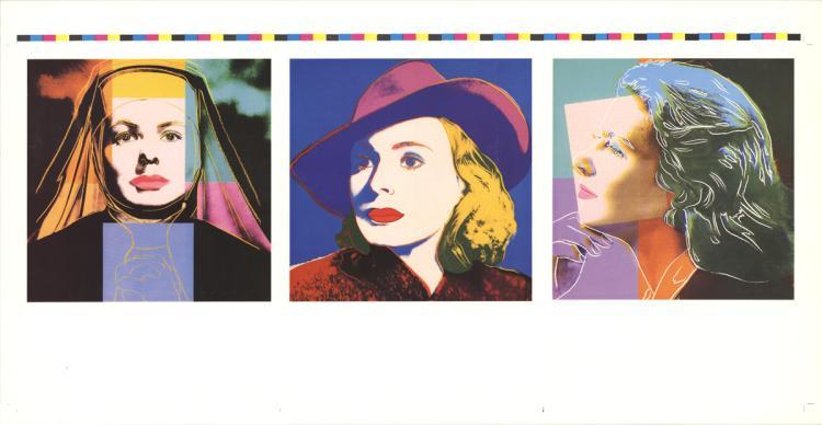 Andy Warhol - Three Portraits of Ingrid Bergman - 1983