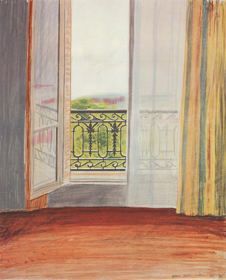 David Hockney - Window, Grand Hotel, Vittel- 19th NY Film Festival - 1970