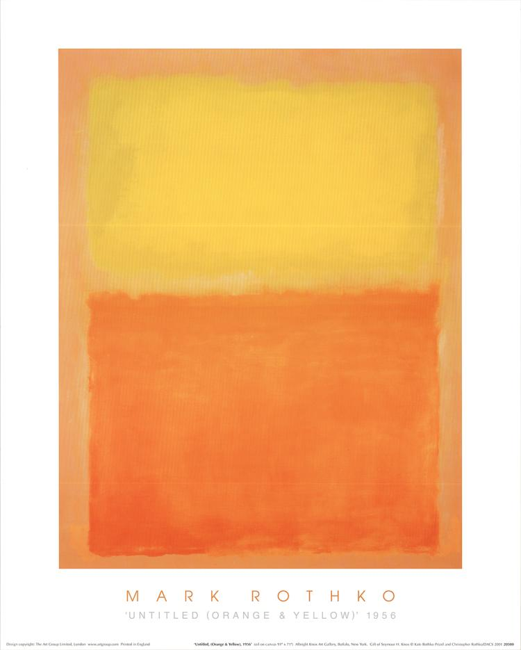 Mark Rothko - Untitled (Orange & Yellow, 1956) - 1994