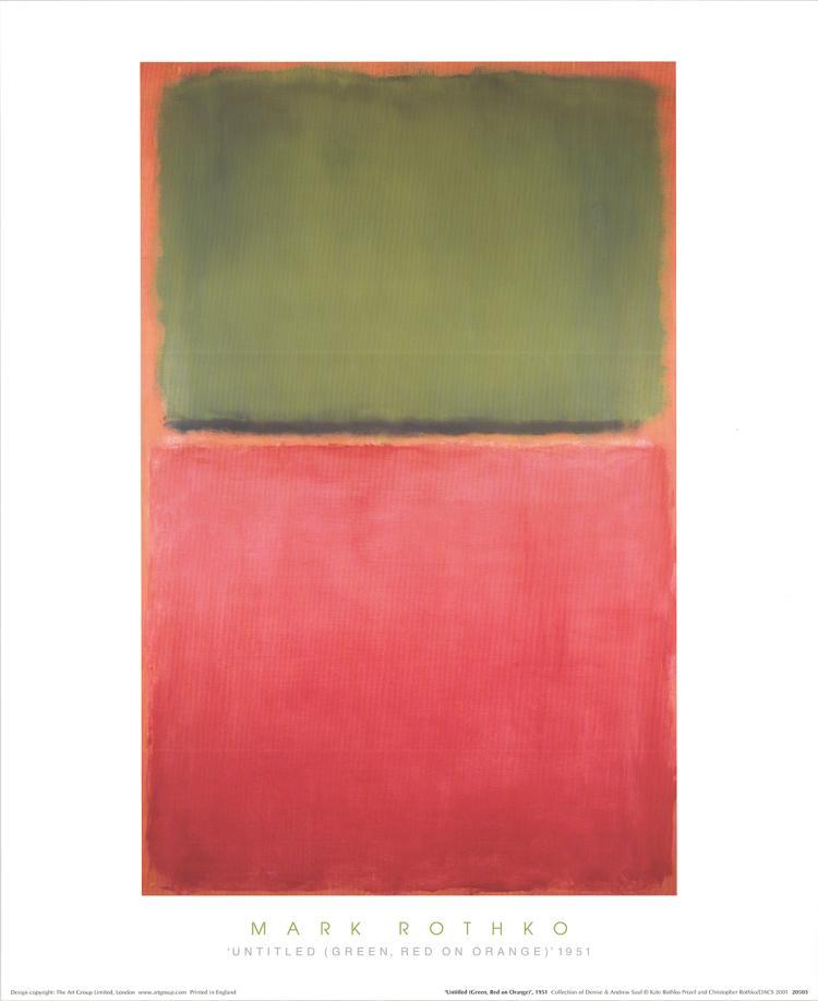 Mark Rothko - Untitled (Green, Red on Orange, 1951) - 1994