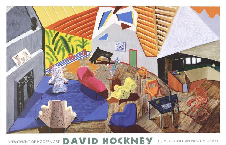 David Hockney - Large Interior, Los Angeles - 1999