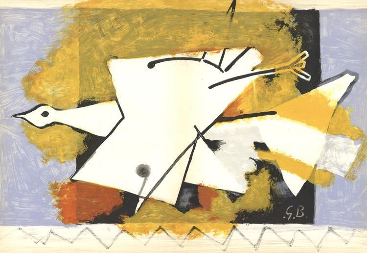 Georges Braque - L'Oiseau Dans La Lumiere - 1959