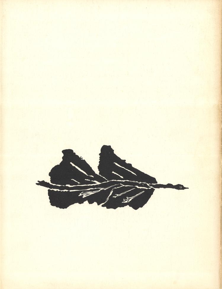 Georges Braque - Oiseaux Noir - 1960