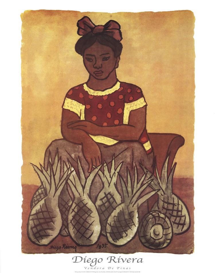 Diego Rivera - Vendora De Pinas - 1998