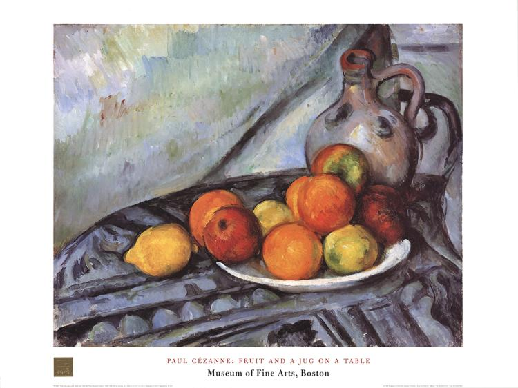 Paul Cezanne - Fruit and Jug on a Table - 1998