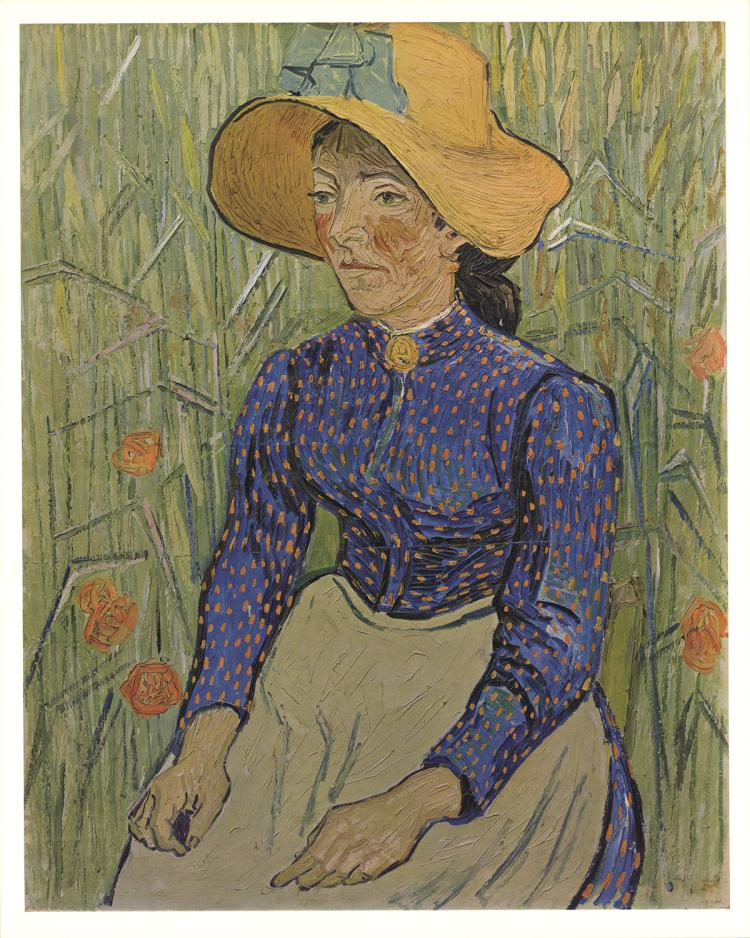 Vincent van Gogh - Peasant Girl with Straw Hat - 1968