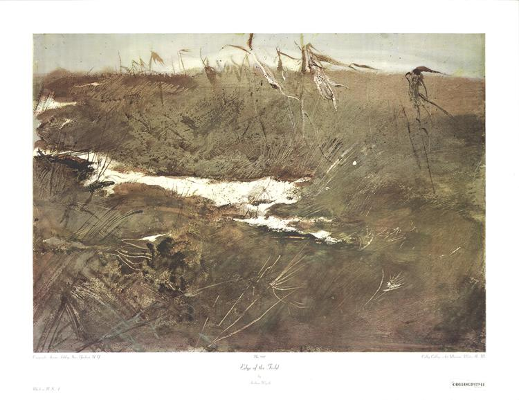 Andrew Wyeth - Edge of the Field - 1974