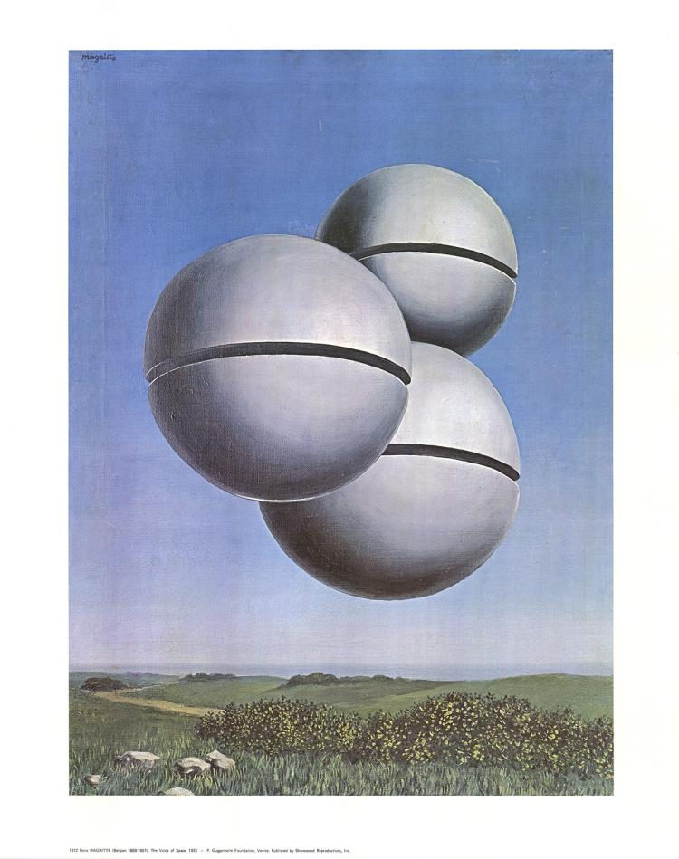 Rene Magritte - The Voice of Space - 1979