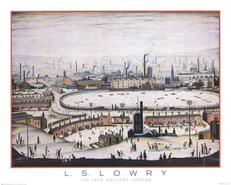 L.S. Lowry - The Pond