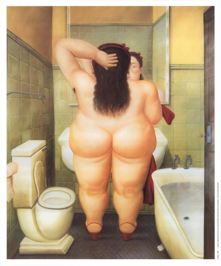 Fernando Botero - The Bath
