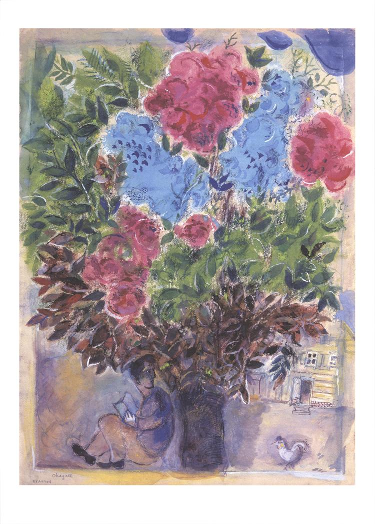 Marc Chagall - Waiting on the Bouquet - 2016