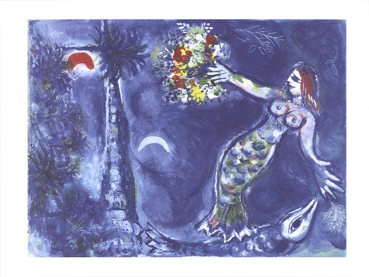 Marc Chagall - Mermaid and Fish - 2016