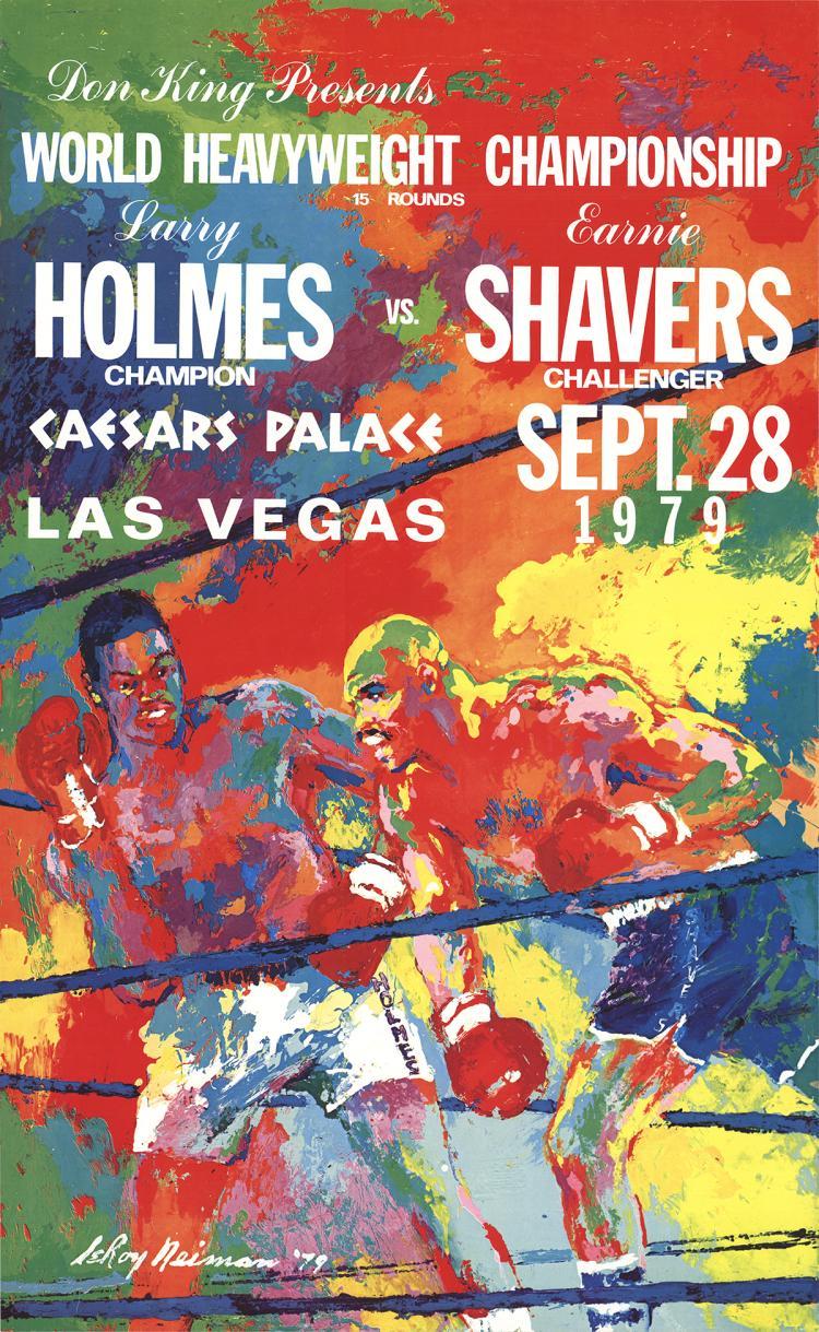Leroy Neiman - Larry Holmes Vs. Earnie Shavers - 1979