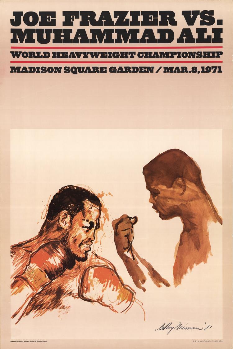 Leroy Neiman - Joe Frazier Vs. Muhammad Ali - 1971