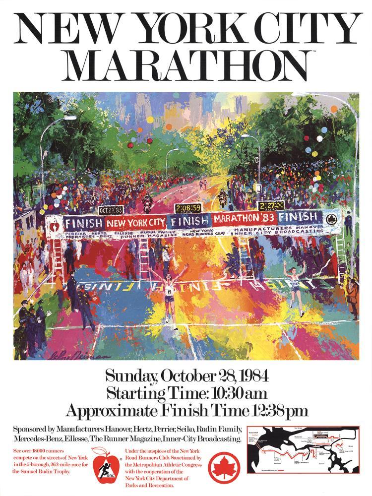 Leroy Neiman - New York City Marathon - 1984