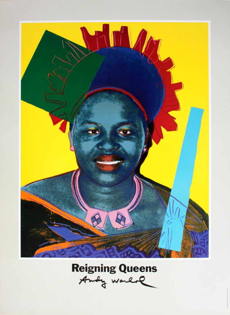 Andy Warhol - Queen Ntombi Twala Of Swaziland from Reigning Queens - 1986