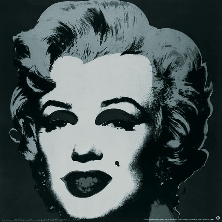 Andy Warhol - Marilyn Black (sm) - 1999