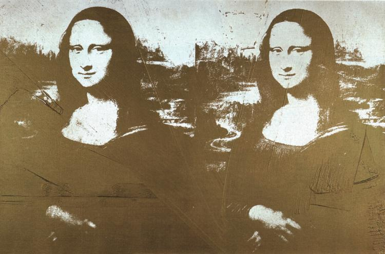 Andy Warhol - Two Golden Mona Lisas (sm) - 1999