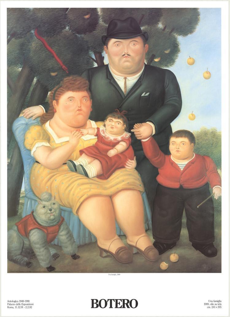 Fernando Botero - Una Famiglia - 1991
