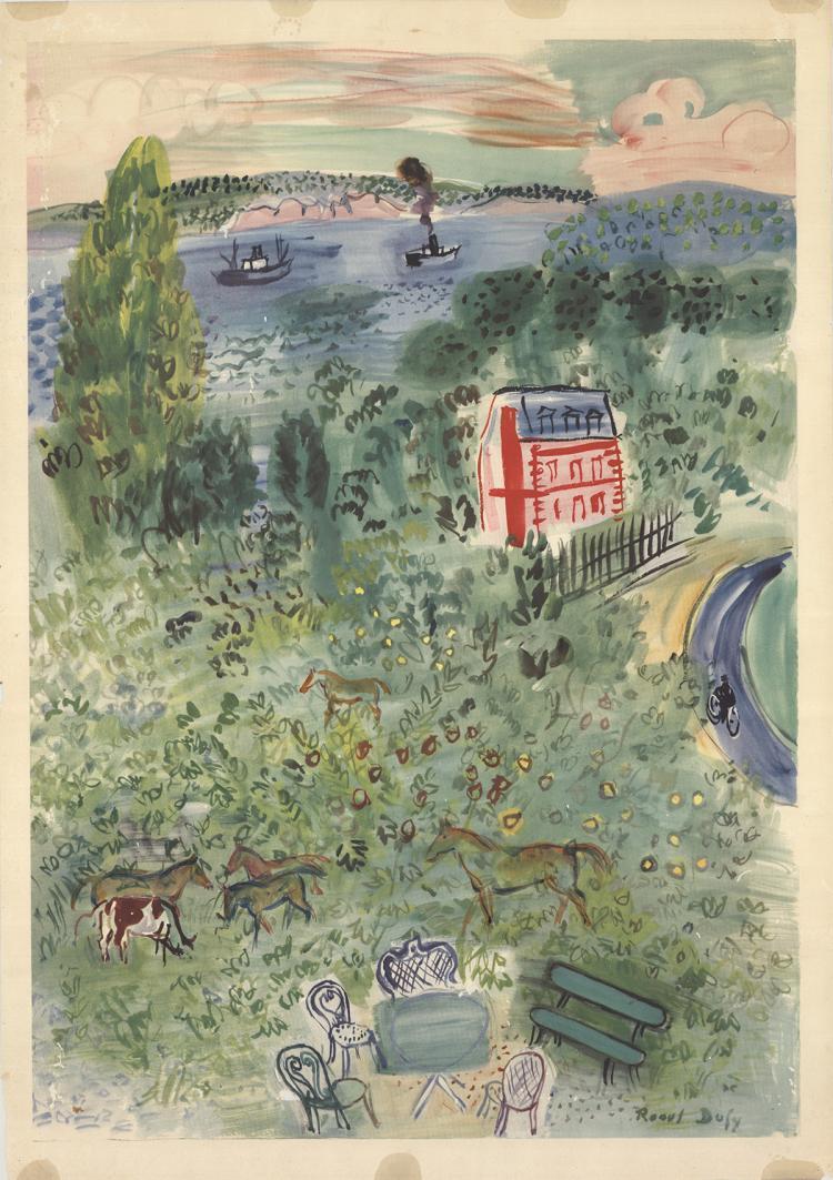 Raoul Dufy - Farm - 1957