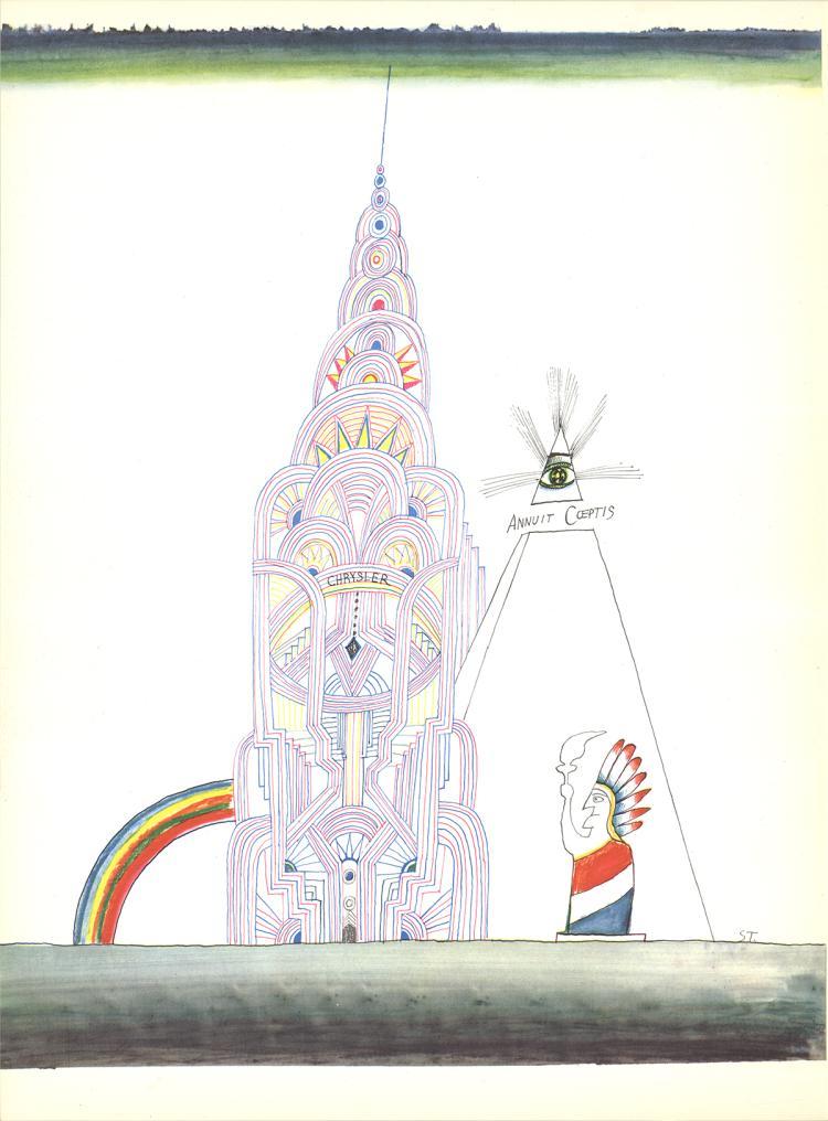 Saul Steinberg - Untitled - 1966