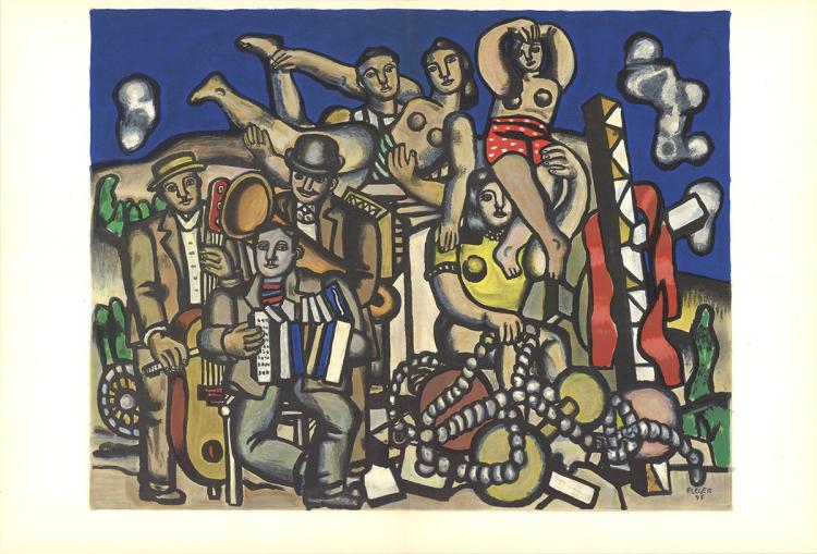 Fernand Leger - Les Musiciens - 1960