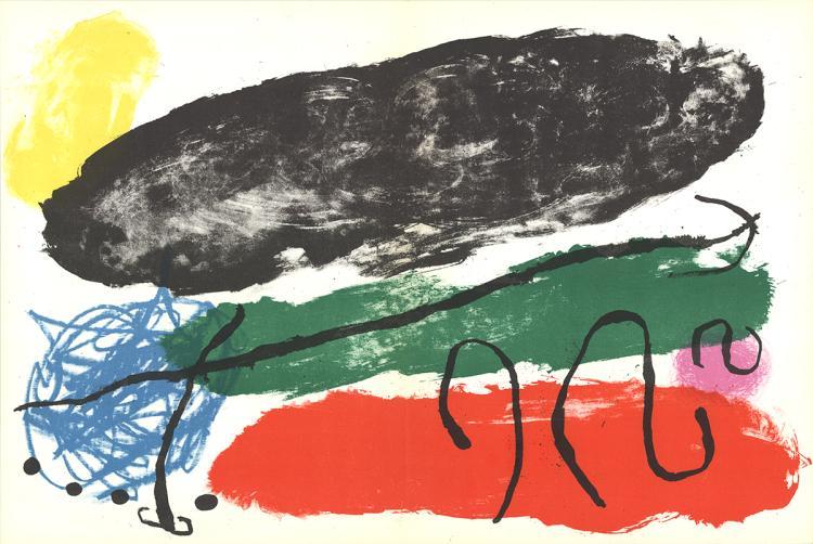 Joan Miro - Le Disque Rouge - 1960