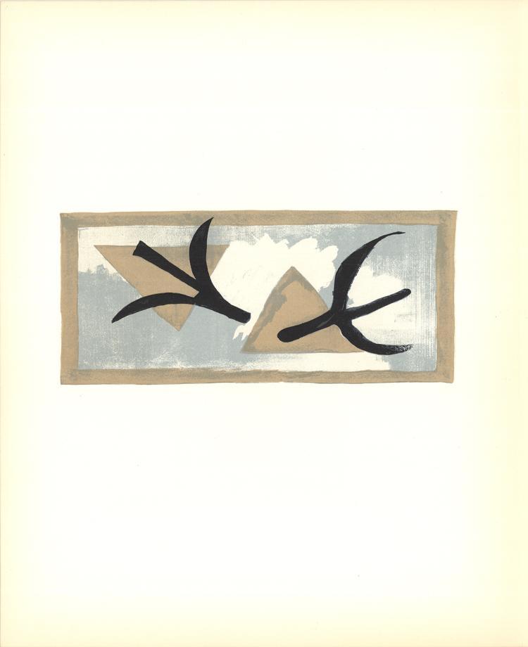 Georges Braque - L'Oiseau Bleu et L'Oiseau Noir - 1959