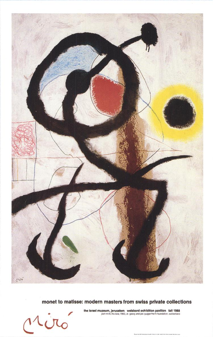 Joan Miro - The Bird - 1988