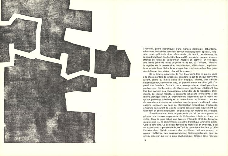 Eduardo Chillida - Untitled - 1968