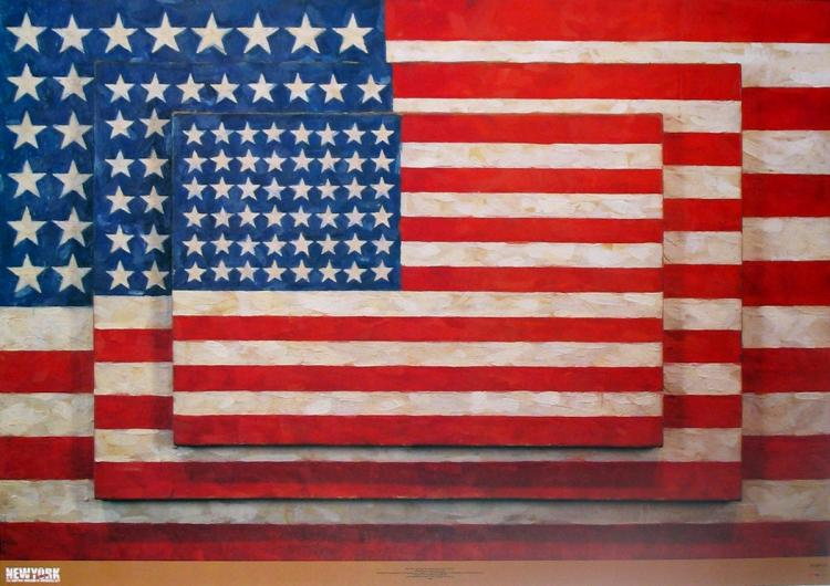 Jasper Johns - Three Flags - 2004