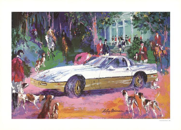Leroy Neiman - Rendezvous a la Corvette - 1986