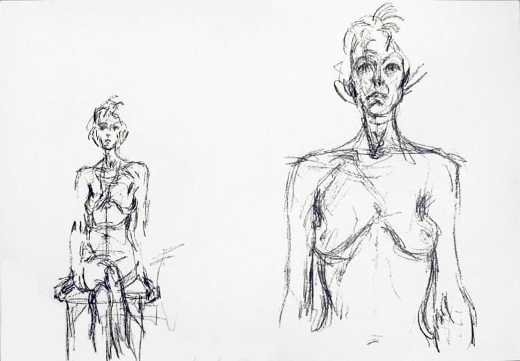 Alberto Giacometti - Derriere Le Miroir no. 127 - 1961