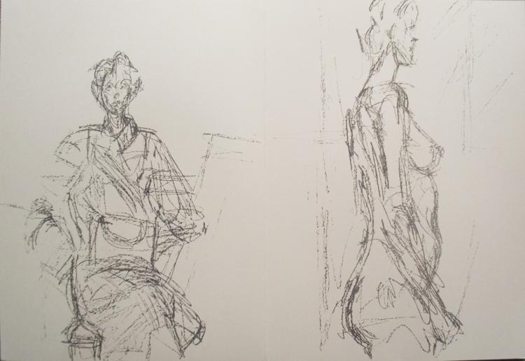 Alberto Giacometti - Derriere le Miroir no. 127 page - 1961