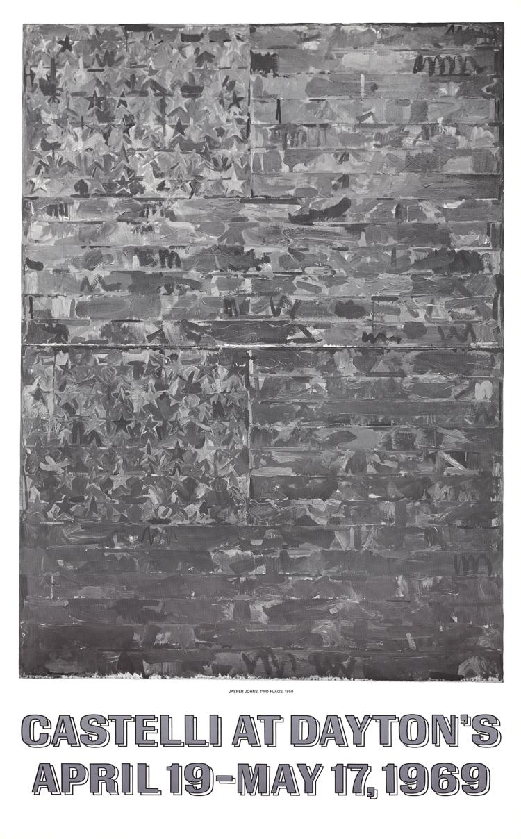 Jasper Johns - Two Flags - 1969