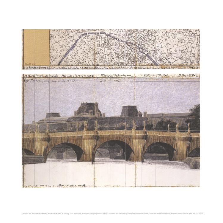 Javacheff Christo - Le Pont Neuf Wrapped II