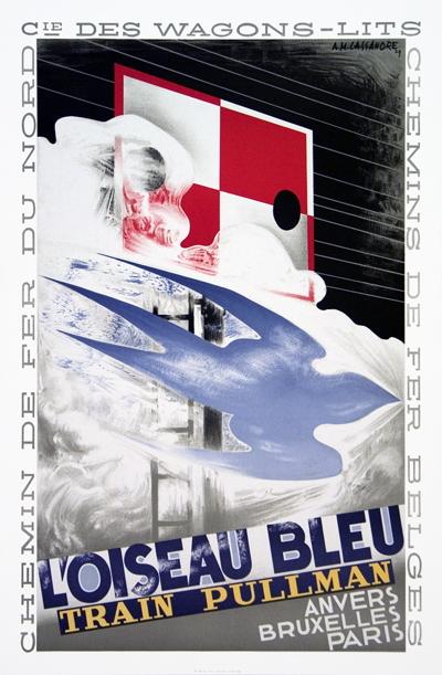 A.M. Cassandre - L'Oiseau Bleu - 1989