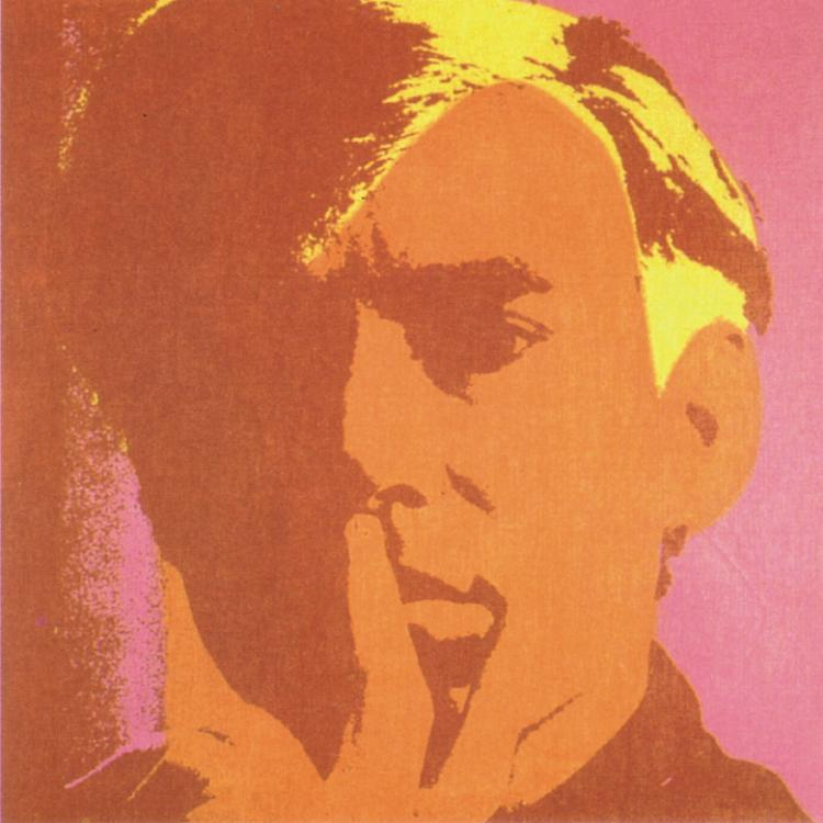 Andy Warhol - Self Portrait-Orange - 2000