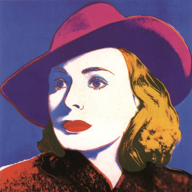 Andy Warhol - Ingrid with Hat (sm)