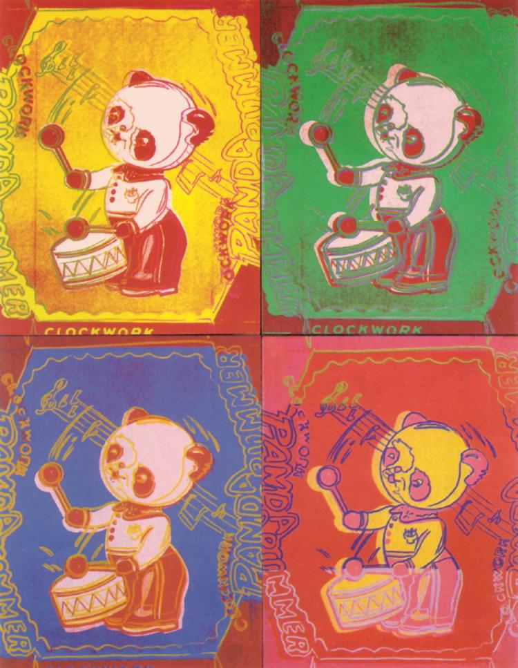 Andy Warhol - Four Pandas (Lg) - 1990
