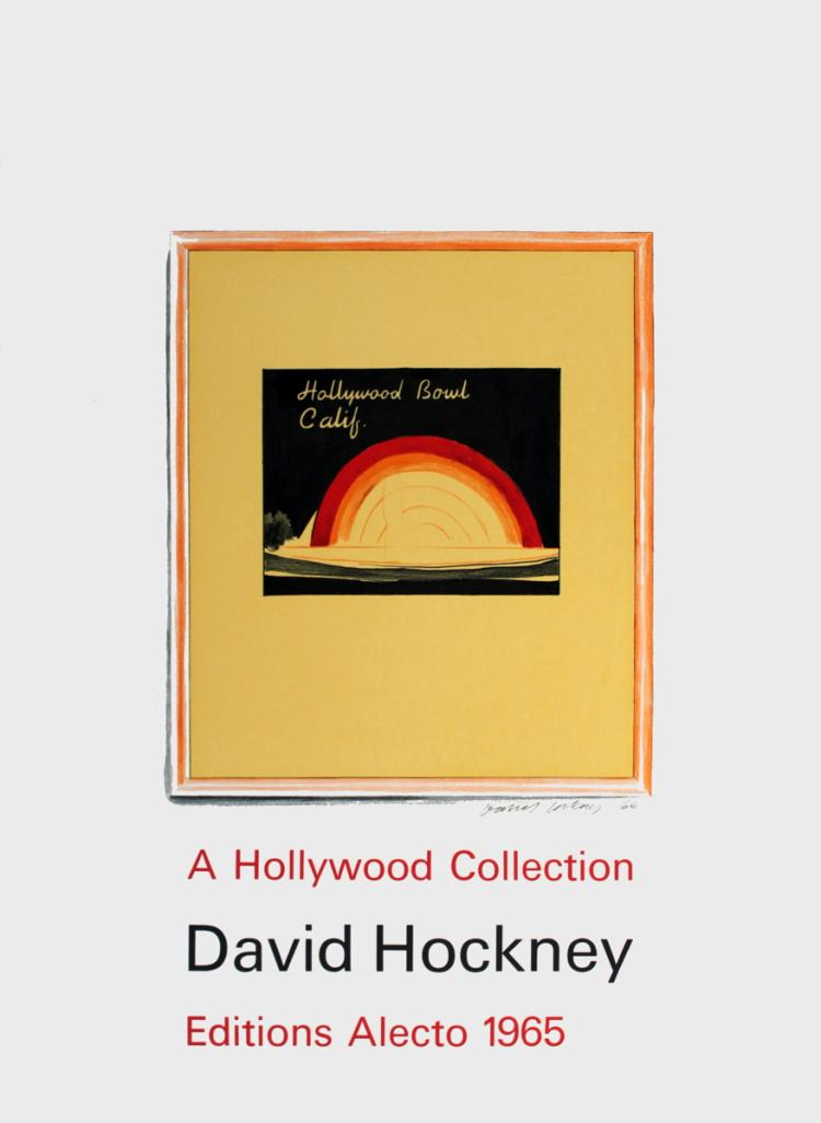 David Hockney - Hollywood Bowl - 1965 - SIGNED