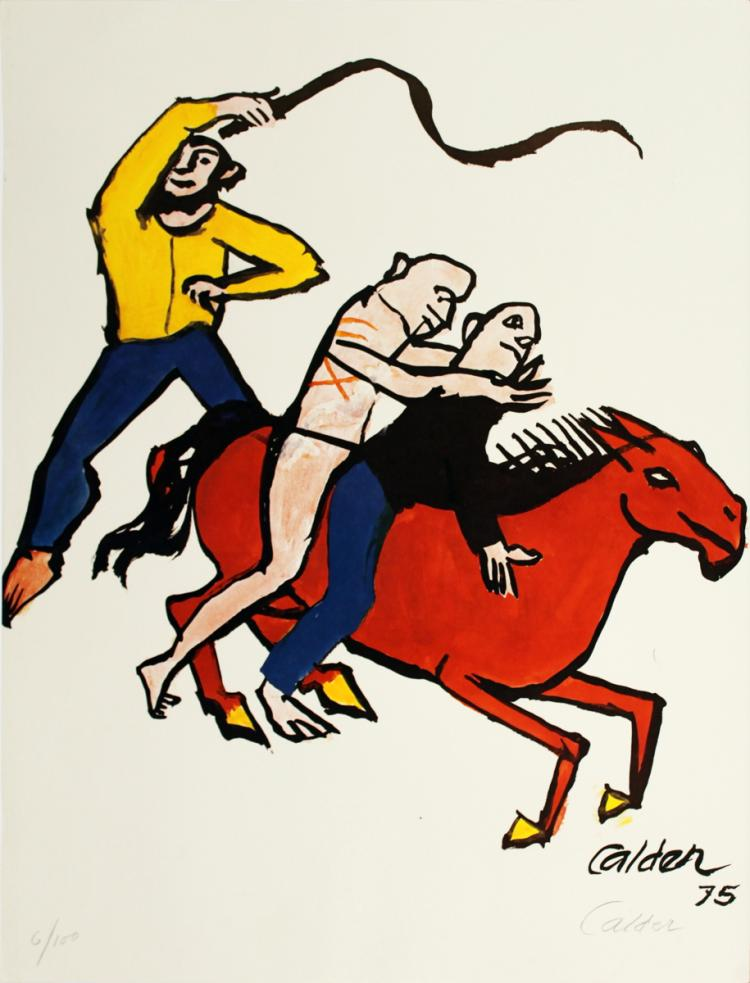 Alexander Calder - Circus Riders for Amnesty International - 1975 - SIGNED