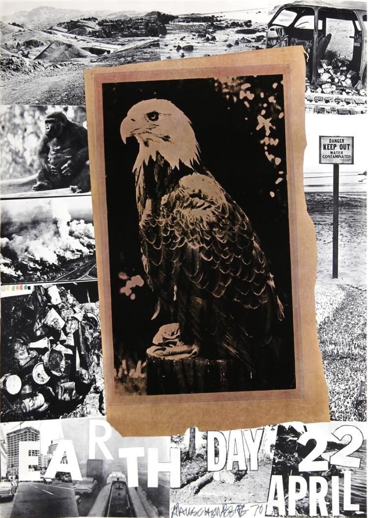 Robert Rauschenberg - Earth Day, American Eagle - 1970 - SIGNED
