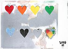 Jim Dine - Eight Colorful Hearts - 1970