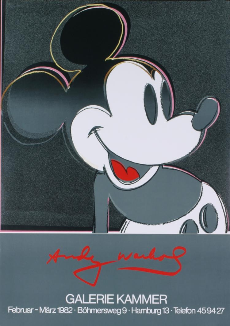Andy Warhol - Mickey Mouse, Galerie Kammer - 1982