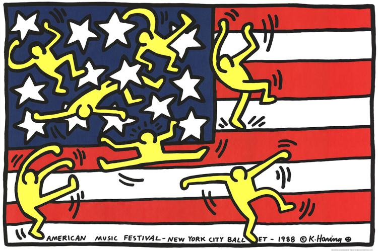 Keith Haring - American Music Festival - New York City Ballet - 1988