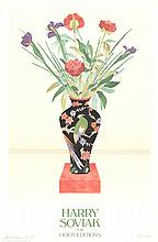 Harry Soviak - Flowers in a Black Vase - 1980 - SIGNED