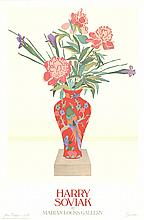 Harry Soviak - Flowers in a Red Vase - 1980 - SIGNED