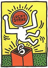 Keith Haring - Lucky Strike - 1984